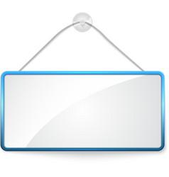 Realistic hanging panel billboard banner vector image
