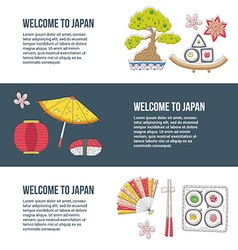 Travel to Japan vector image vector image
