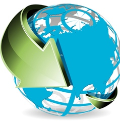 world globe vector image vector image