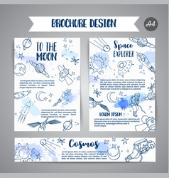 astronomy huge space card hand drawn vector image
