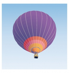 hot air balloon illustration vector image