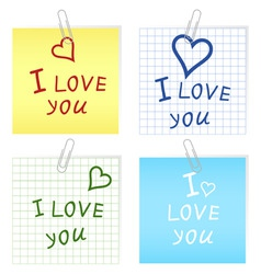 i love you2 vector image
