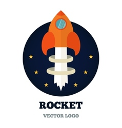 Rcket logo for new business start-up vector