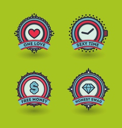 Trendy badges vector image
