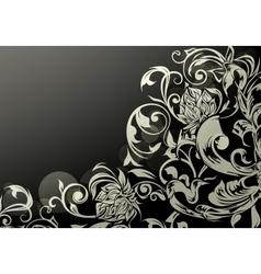 Wallpaper decor on Black vector image