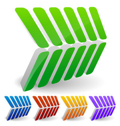3d abstract arrow like shapes pointing right vector
