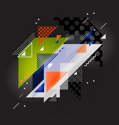 Abstract art background with geometric elements vector