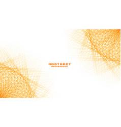 Abstract orange fractal lines mesh background vector