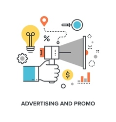 advertising and promo vector image