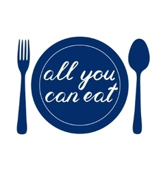 All you can eat handwritten vector image