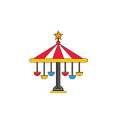 Amusement park circus attraction vector