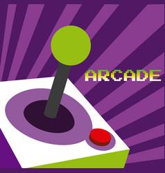 Arcade vintage gamepad vector