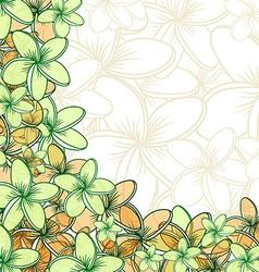 Background of transparent blend flowers design vector image