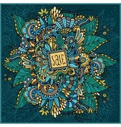 Beautiful decorative nature ornamental card Sale vector