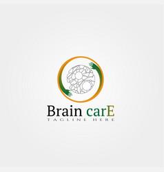 Brain care icon template creative logo design vector