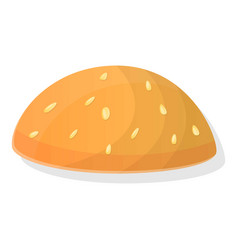 burger bun icon cartoon style vector image