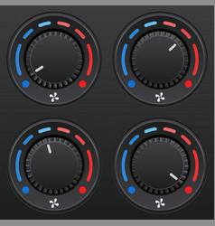 car dashboard knob switch set auto air vector image