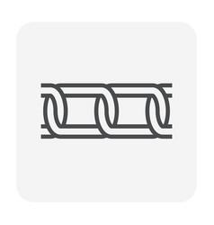 chain icon black vector image