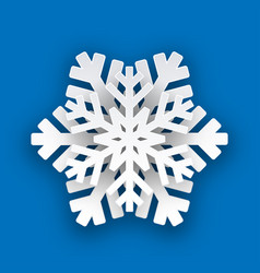 christmas paper winter white snowflake vector image