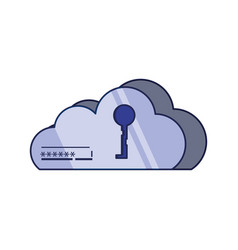 cloud computing with key vector image