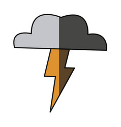 cloud thunderbolt weather storm image shadow vector image