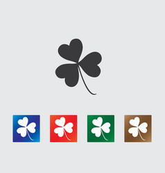 Clover icons vector image