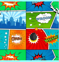 comic book seamless pattern vector image
