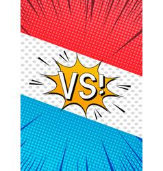 Comic duel explosive template vector