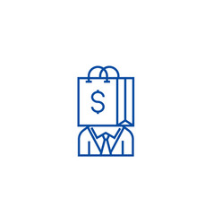 Consumerism line icon concept consumerism flat vector