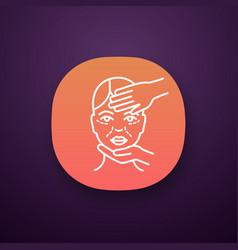 cosmetologist examination app icon vector image