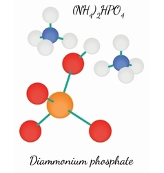 Diammonium phosphate N2H9PO4 molecule vector