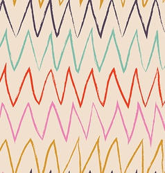 Doodle abstract pattern with zigzag Pastel vector image