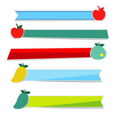 friut paper and ribbon on white background vector image