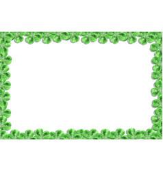 green cloverleaf frame vector image