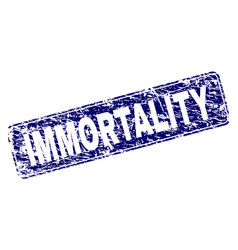Grunge immortality framed rounded rectangle stamp vector