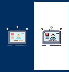 Interface website user layout design flat color vector