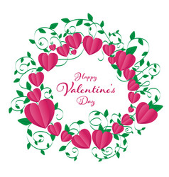 isolate valentines frame contains heart rounding vector image