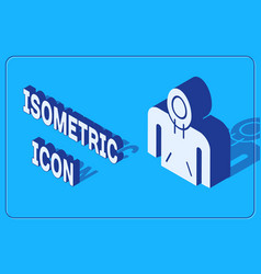 Isometric hoodie icon isolated on blue background vector