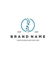 Logo to treat bones design vector