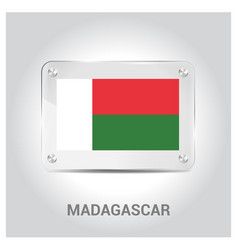 madagascar flag design vector image