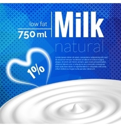 Milk design Milk wave blue triangle halftone vector