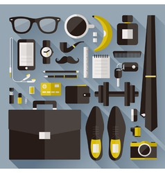 Modern businessman essentials vector