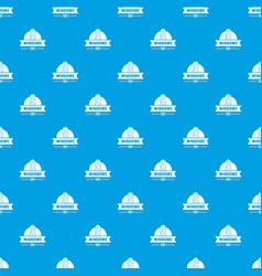 Modern window pattern seamless blue vector