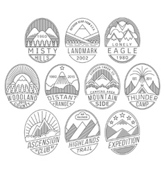 Mountain badges2 linear vector image