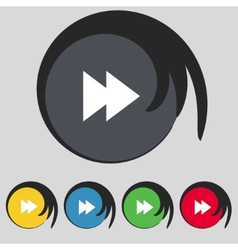 multimedia sign icon Player navigation symbol Set vector image