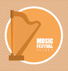 music festival live with harp vector image