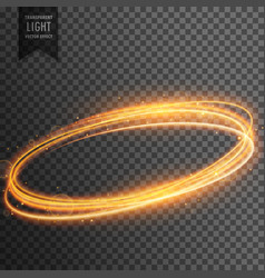 Neon transparent golden light effect background vector