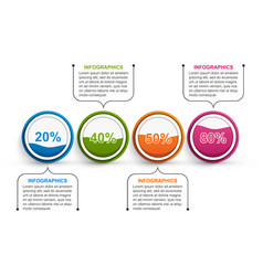 options infographics template infographics vector image