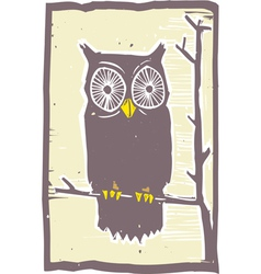Owl on tree vector image
