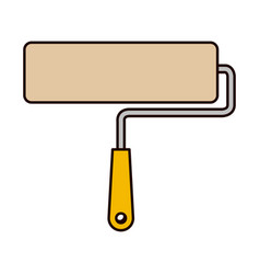 paint roller icon colorful silhouette vector image